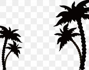 Coconut Tree Silhouette - Africa Safari Royalty-free Illustration PNG