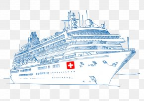 Cruise Ship - Cruise Ship Drawing Ocean Liner Sketch PNG