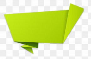 Green Origami Ribbon - Paper Origami PNG
