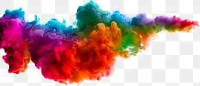 Creative Colorful Clouds - Color Dye Textile Paint Water PNG