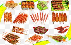 Barbecue - Barbecue Teppanyaki Chuan Skewer Meat PNG