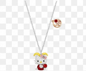 Swarovski Jewelry Cat Necklace Women KITI - Hello Kitty Swarovski AG Earring Luxury Goods Necklace PNG