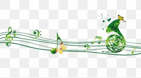 Creative Green Musical Note - Musical Note Staff PNG