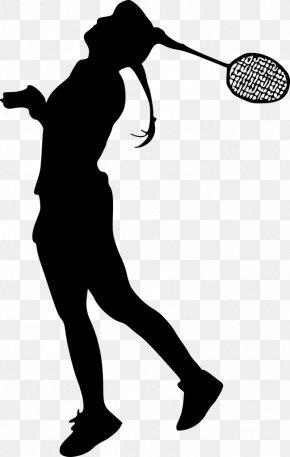 Badminton Players Silhouette - Badminton Silhouette Sport Clip Art PNG