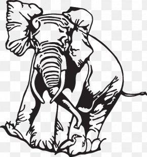 African Elephant - Indian Elephant African Elephant Clip Art Illustration Mammal PNG