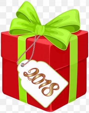 2018 Gift Box Clip Art Image - Santa Claus New Year Gift Christmas Clip Art PNG