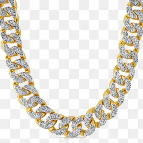 Thug Life Gold Chain HD - Chain Necklace Cubic Zirconia Pendant Diamond PNG