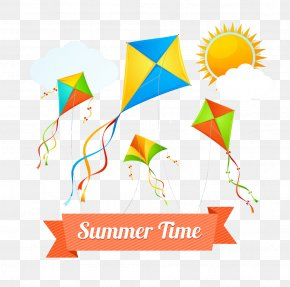 Hand-painted Summer Time - Clip Art PNG