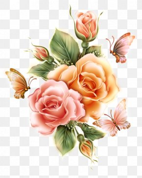 Flower - Flower Decoupage Floral Design Rose Greeting & Note Cards PNG