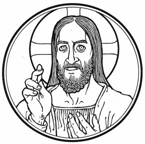 Black And White Picture Of Jesus - Jesus Black And White Drawing Clip Art PNG
