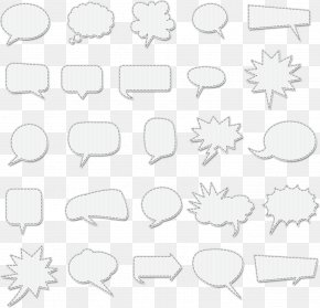 6 Different Vector Seamless Patterns - Speech Balloon Bubble Clip Art PNG