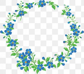 Round Flower Map - Picture Frames PNG