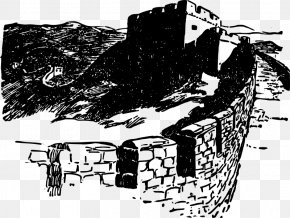 Great Wall Of China - Great Wall Of China Drawing Monument Clip Art PNG
