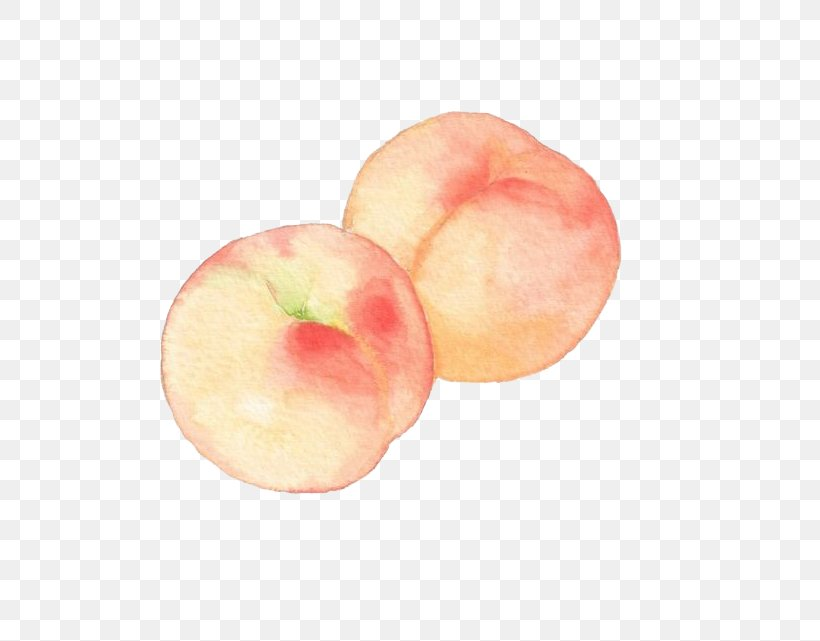 Princess Peach Watercolor Painting Drawing, PNG, 632x641px, Peach, Apple, Drawing, Food, Fruit Download Free