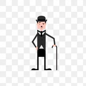 Charlie Chaplin - The Tramp Comedian Illustration PNG