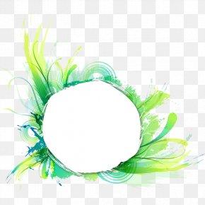 Watercolor Green Circle - Watercolor Painting Drawing Illustration PNG