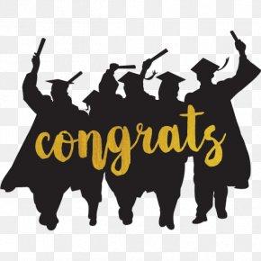 Gold Congrats - Graduation Ceremony Vector Graphics Clip Art Graduate University PNG