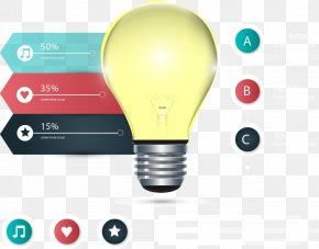 Vector Painted PPT Bulb - Energy Conservation Euclidean Vector Infographic PNG