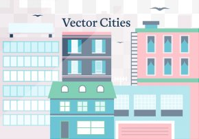 Vector City Illustration - Euclidean Vector Illustration PNG