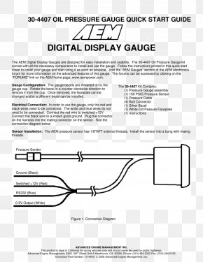 Pressure Gauge - Wiring Diagram Gauge Electrical Wires & Cable Fuse PNG