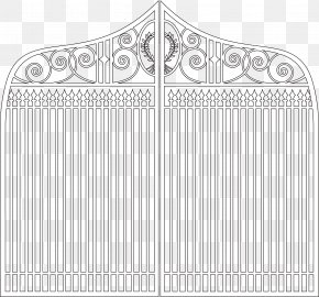 Gate Barrier - Architecture Fence White Facade Drawing PNG