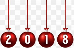 2018 Christmas Balls Clip Art Image - Christmas Ornament New Year Clip Art PNG