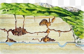 Underground Cave River - Drawing Stock Photography Karst Illustration PNG