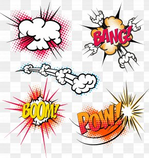 Creative Explosion Stickers Design - Explosion Clip Art PNG