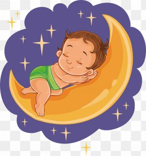 A Fairy Tale Child - Diaper Sleep Infant Illustration PNG
