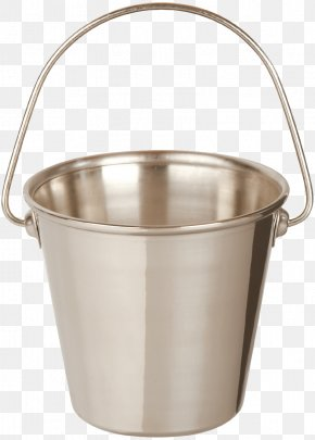 Metal Bucket Image - Table Bucket Stainless Steel PNG