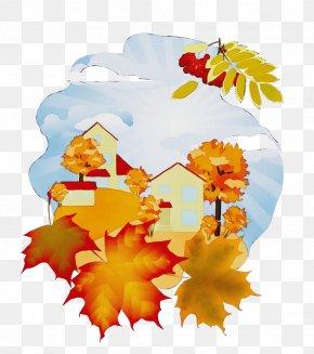Flower Autumn - Maple Leaf PNG