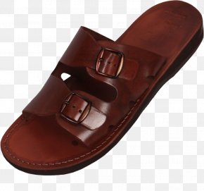 Leather Sandals Image - Slipper Sandal Leather Flip-flops Strap PNG