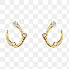 Hoop Earrings - Earring Silver Colored Gold Carat PNG