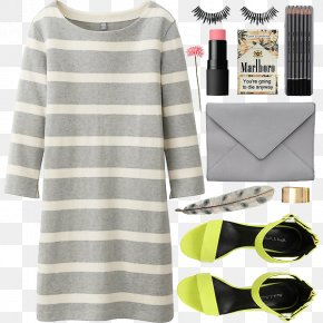 Simple Leisure Women With - Sleeve T-shirt Dress Fashion Uniqlo PNG