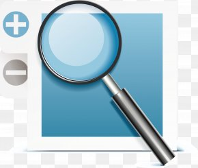 Magnifying Glass Decoration Vector - Responsive Web Design Magnifying Glass Template PNG