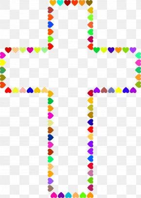 Hearts Cross Cliparts - Cross Clip Art PNG