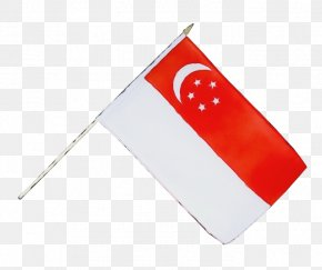 Rectangle Bunting - Singapore Flag Background PNG