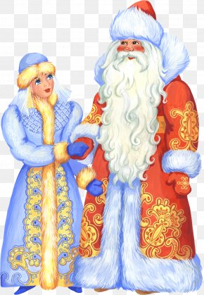 Santa Claus - Snegurochka Ded Moroz New Year Ziuzia Grandfather PNG
