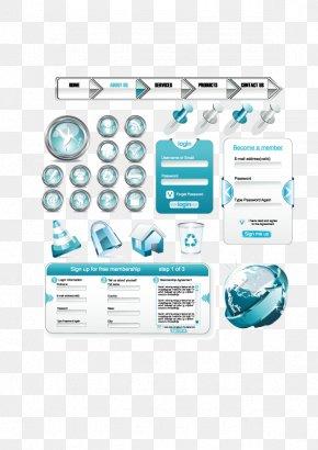 Crystal Web Design Elements Vector Material - Web Design World Wide Web Web Banner PNG