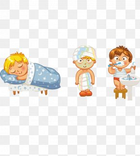 Different Forms Of Cartoon Children - Hygiene Health Bathing Clip Art PNG