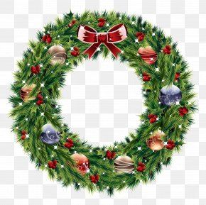 Christmas Wreath - Advent Wreath Christmas Clip Art PNG