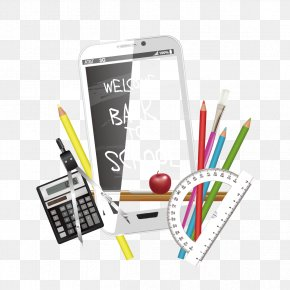 Vector Mobile Phone And School Supplies - Learning Adobe Illustrator PNG
