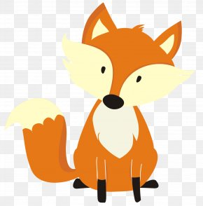 Fox - Red Fox Valentine's Day Gift Clip Art PNG