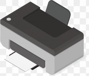 Gray Printer - Laptop Printer Transistor Computer Image Scanner PNG