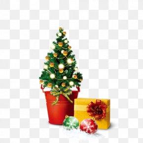 Christmas Gifts - Santa Claus Christmas Decoration Gift Christmas Tree PNG