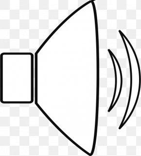 White Cartoon Speaker Icon - Sound Clip Art PNG