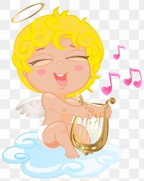 Blonde Cupid Transparent Clip Art Image - Cupid Love Clip Art PNG