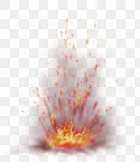 Red Fresh Flame Effect Element - Light Fire Explosion PNG