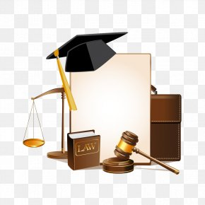 Vector Dr. Cap And Books - Lawyer Judge Law Firm PNG