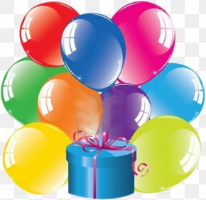 Gift - Toy Balloon Gift Box Birthday PNG